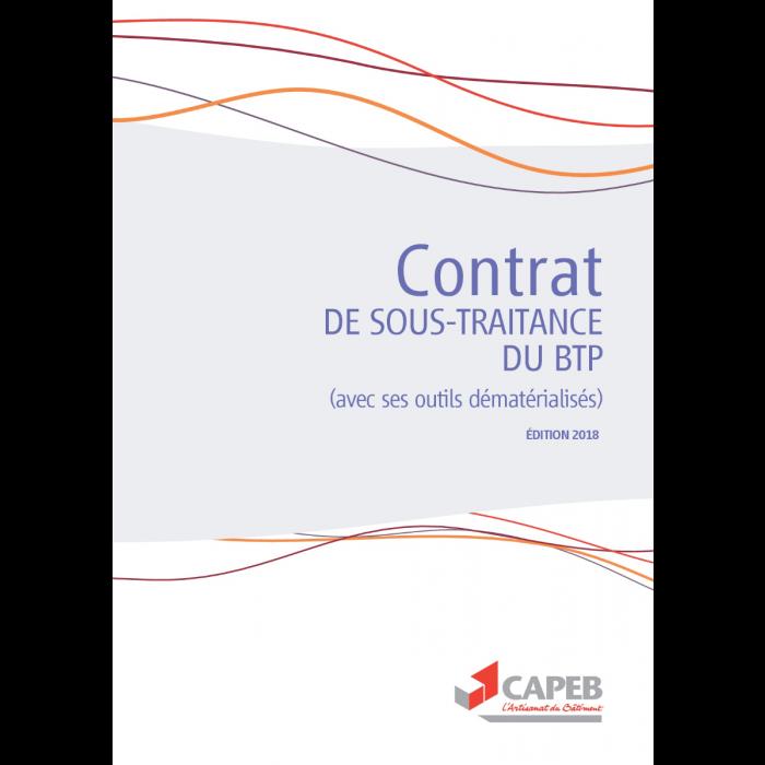 Contrat De Sous Traitance Du Btp Document Numerique