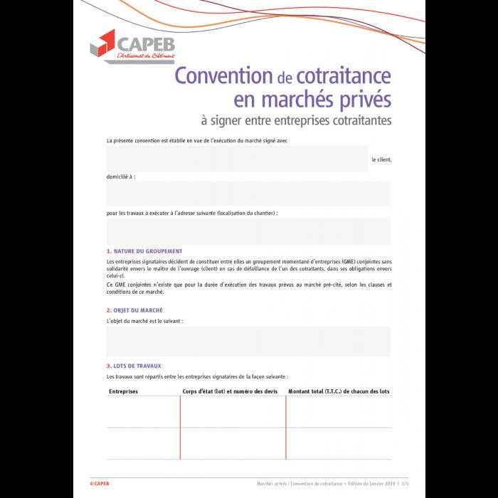 Kit Cotraitance Marches Prives Document Numerique